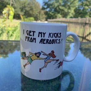 Funny vintage aerobics mug